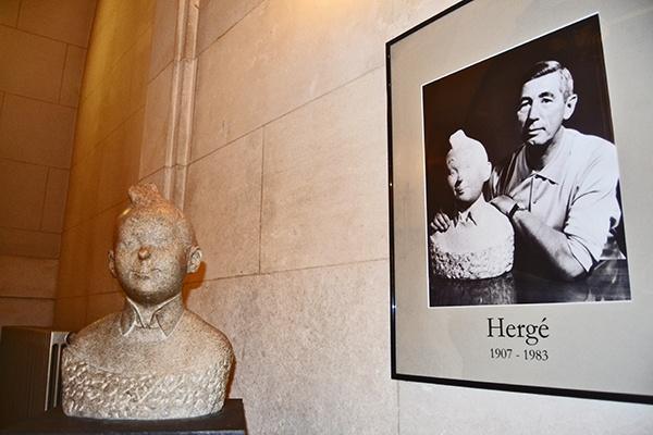 Tintín y Hergé en el Museo Nacional de Cómic de Bruselas imagen